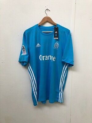 adidas Men's Marseille FC 17/18 Away Shirt - Various Sizes + Players - Blue -New