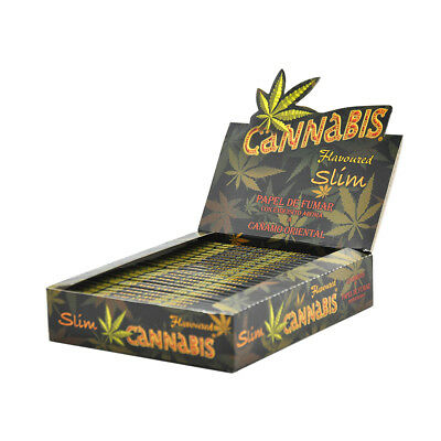 Leaves Print- 1 Box Flavored Kingsize 110MM Slims Cigarette Rolling Papers