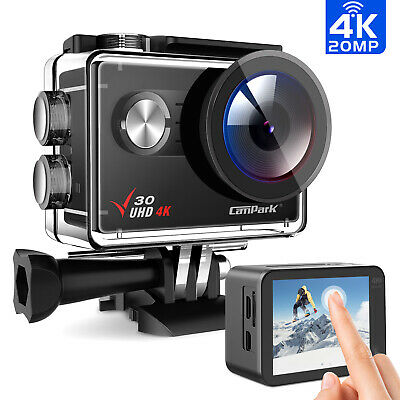 "Campark ACT76 FHD 4K Sport CAM Action Camera 16MP Wifi 2"" LCD Dual Display 170°"