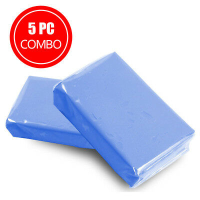 5Pcs Magic Clay Bar Car Auto Cleaning Remove Detailing Wash Cleaner Blue