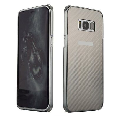 for Samsung S8 carbon fiber pattern with anti-collision plastic metal anti- E8T8