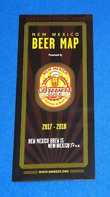 Brand New Extraordinary 2017-2018 New Mexico Beer Map Breweries Collector's Item