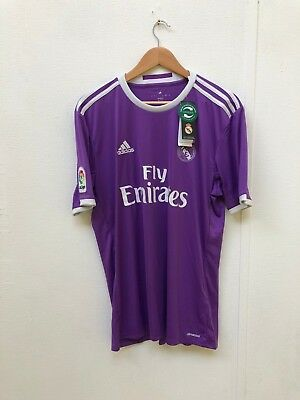 adidas Mens Real Madrid 16/17 Away Shirt - Various Sizes + Players - Purple -New
