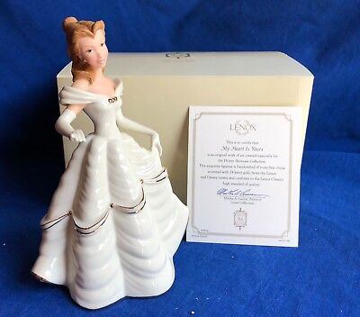 NIB Lenox Classics DISNEY Showcase Collection Belle My Heart Is Yours Figurine