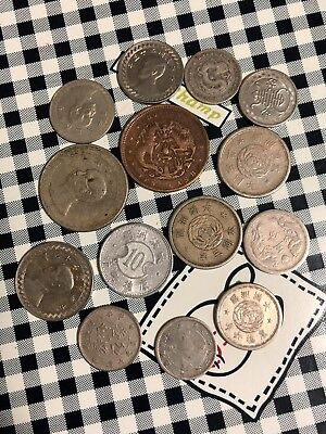 26pc Manchukuo japan china mix lot silver copper nickel coin from 1800s