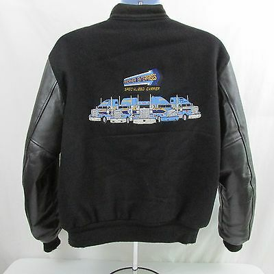 Vintage Butwin Wool with Leather Sleeves Trucking Werner Varsity Jacket size M