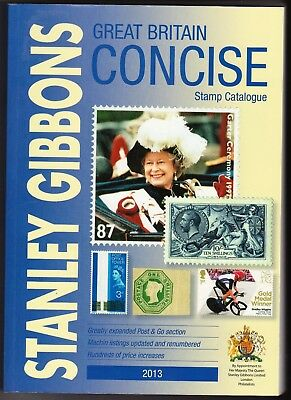 philately Stanley Gibbons Great Britain Concise Stamp Catalogue 2013
