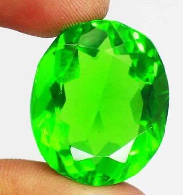 Exclusive Deal 51.90 Ct Certified Oval Shape Shiny Green Moldavite Gems BZ651