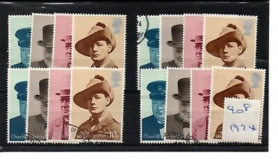 Gb  Wholesale - 1974 - (F408) - Winston Churchill - Four Sets - Fine Used