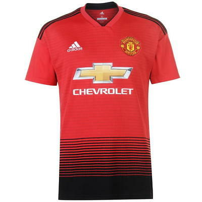 Manchester United MUFC Mens Football Home Shirt Red Top Jersey 2018 / 2019