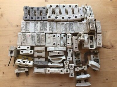 Job Lot - Ceramic Vintage Industrial Fuses Electrical
