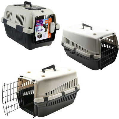 Portable Travel Pet Dog Cat Carrier Crate Transporter Cage House Kennel Airline