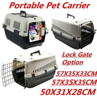 Portable Travel Pet Dog Cat Carrier Crate Airline Transporter Cage Kennel WMCV