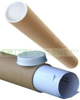 200 SMALL A2 SIZE POSTAL TUBES 460mm LONG x 45mm DIAMETER MAILING POSTER - NEW