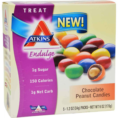 Atkins Endulge Chocolate Peanut Candies 170 gram, No Sugar Added, Low Carb