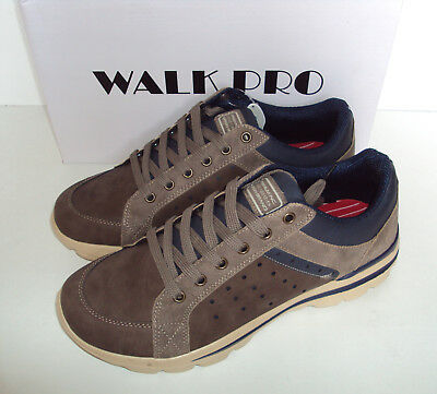 Mens Memory Foam Trainers Walk Pro Brown Superlite New Casual Shoes UK Size 7-12