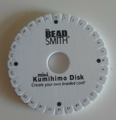Kumihimo disc 10cm mini by the Bead Smith used only once.