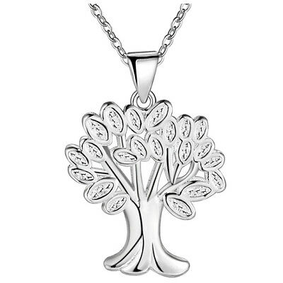 Tree-of-Life Charm Pendant & Chain Necklace in 925 Sterling Silver Tree Pendant