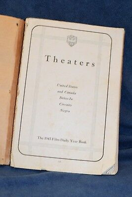 1943 Film Daily Year Book. Covers US Canada Drive ins Negro Theaters