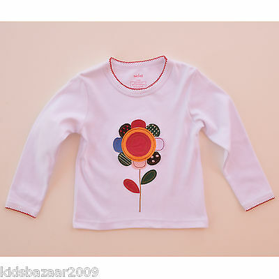 Gap Baby Girls White Sunflower Applique Long Sleeve Tee Size 12-18M Last Chance!