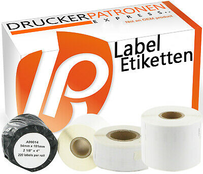 Label Etiketten für Dymo Labelwriter 450 turbo 320 twin 400 450 420 500 330 DUO