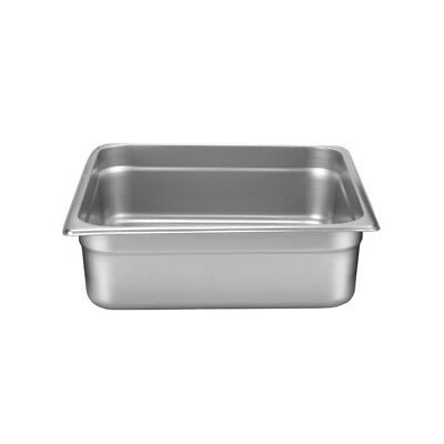 "Thunder Group STPA8234 Stainless Steel 2/3 Size Steam Table Pan 4"" Deep 24 Gauge"