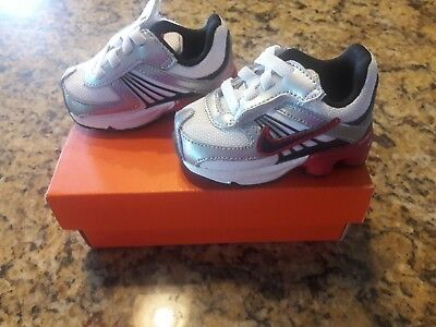 ... 2C NEW NIKE SHOX Infant Toddler Boys Black White Silver Red Shoes  SHOCKS ... 0fc60346f