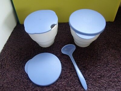 Tupperware Condiment Open House Replacement/Add-On Bowls, Lids & Spoon Exc.Cond