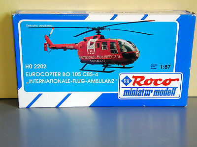 Roco Minitanks 2202 MBB Bo 105 CBS-4 IFA Internationale Flugambulanz 1:87 H0