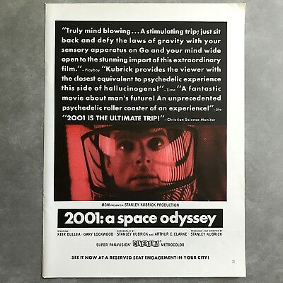 2001 A Space Odyssey Vintage Photo Print Magazine Ad 1968