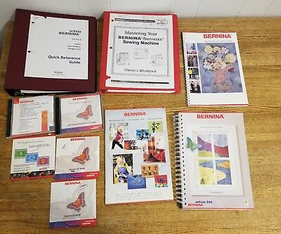 Bernina FEETURES Books & Manuals lot plus CDs