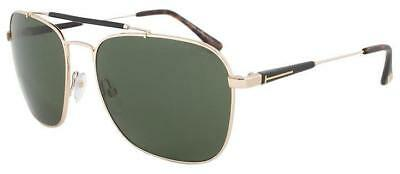 72611efc8e11 Tom Ford Edward Unisex Aviator Sunglasses Shiny Gold Polarized Green Ft 0377  28R