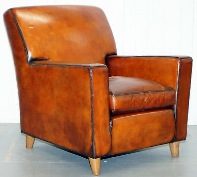 Stylish Modernist Restored Rrp £4600 Terence Conran Italian Leather Armchair