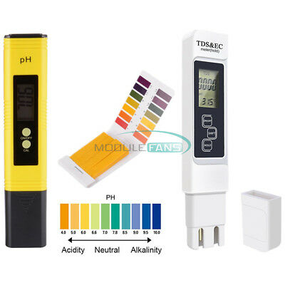 PH Meter Tester Aquarium Pool TDS EC LCD Digital Pen Monitor Water Meter Tester