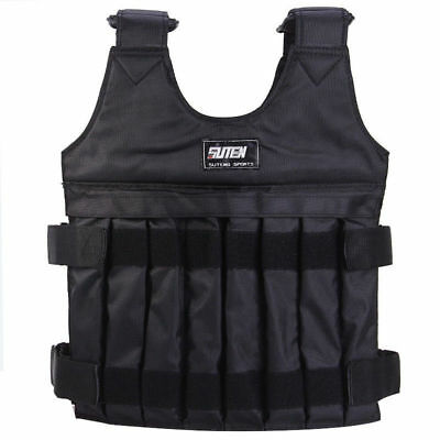 20KG Weighted Vest Adjustable Weight Vests MMA Gym Training Exercise Sport