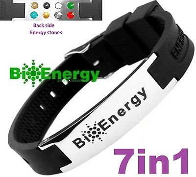 Jade Magnetic Energy Germanium  Power Bracelet Health 7in1 Bio Armband BAND