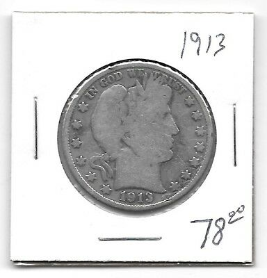 United States 1913 Barber Half Dollar - 50 Cents