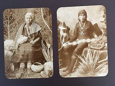 2 New RPPC  Postcards Old West Collectors Series Old Washee & Navajo Silversmith