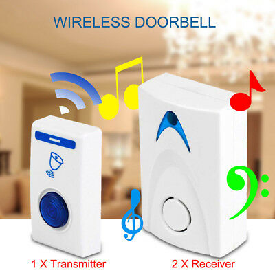 LED Wireless Chime Doorbell Doorbell & Wireless Remote control 32 Tune Song R1D2