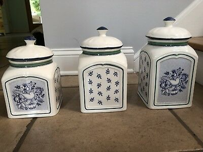 Villeroy & Boch Switch 3 Charm. 3 Canister Set. Never Used