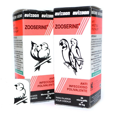 2X ZOOSERINE bird respiratory illnesses Bowel Infections