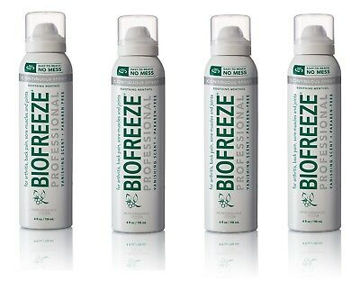 4 Packs Of BioFreeze Professional 360 Spray 4 fl oz, Exp.2021+--Depends On Us!!!