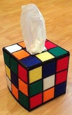 Rubik's Cube Tissue Box Cover, FREE TISSUES, as on Big Bang Theory/BBT, handmade