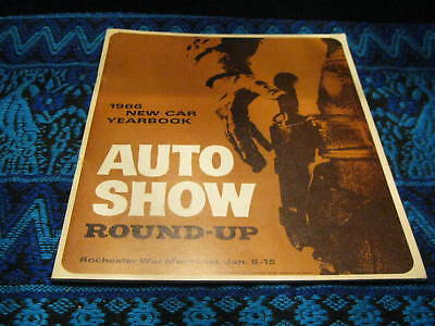 Vintage 1966 New Car Yearbook Auto Show Program Round Up Rochester New York