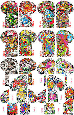 Henning Full Color Traditional Japanese Tattoo Flash Sleeves,18 Sheets 11x17 Koi