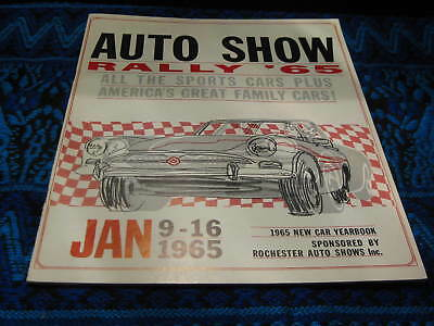 Vintage 1965 New Car Yearbook Auto Show Program Rally Rochester New York