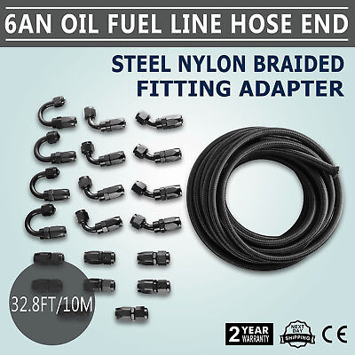 10M An6 Oil Fuel Line Hose End Fitting Kit Durability Constant Flow Light Weight