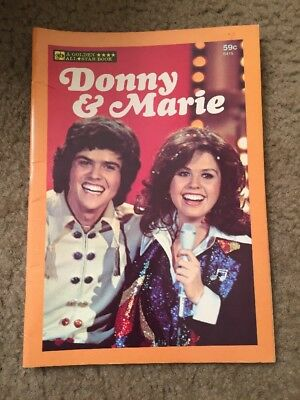 Donny And Marie A Golden All Star Book Magazine Retro Vintage