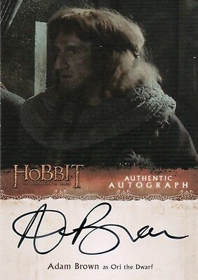 The Hobbit The Desolution Of Smaug, Adam Brown 'Ori The dwarf' Autograph AB