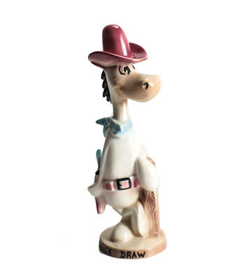 Vintage Hanna Barbera Quick Draw McGraw Ceramic Figurine airbrushed Rare Form